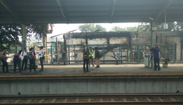 Foto Akhirnya, Stasiun Klender Beroperasi Kembali