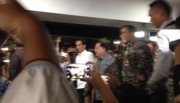 Foto Jokowi dan JK Tiba di RS Polri