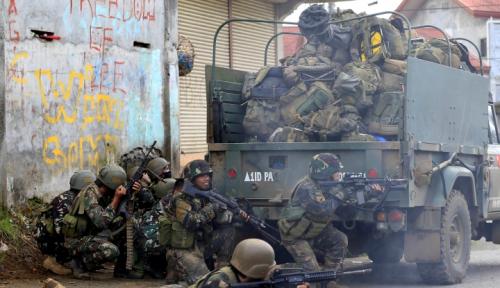 Foto Lagi, 13 Pasukan Marinir Filipina Tewas dalam Pertempuran Marawi
