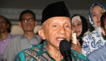 Foto Gaya Amien Minta Menteri Asman Mundur Kurang Etis