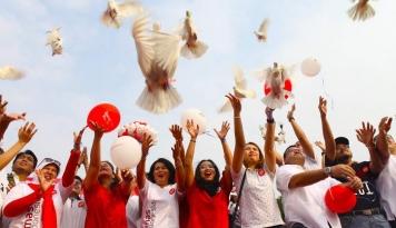 Foto Komunitas Humas Indonesia Gelar Aksi Kebhinekaan