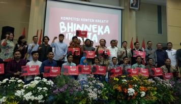 Foto Kemenkominfo Umumkan Pemenang Kompetisi Konten Kreatif Bhinneka itu Kita