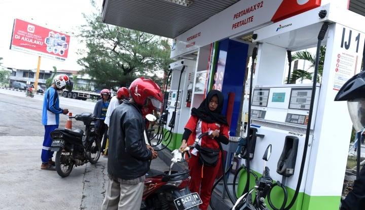 Foto Berita Selewengkan BBM Premium, SPBU Disegel Polisi