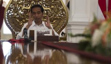 Foto Senin Lalu PAN Tak Hadir Rapat Koalisi, Jokowi: Gak Sampai Undangannya