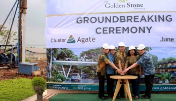 Foto The Golden Stone @Serpong Bangun Cluster Agate