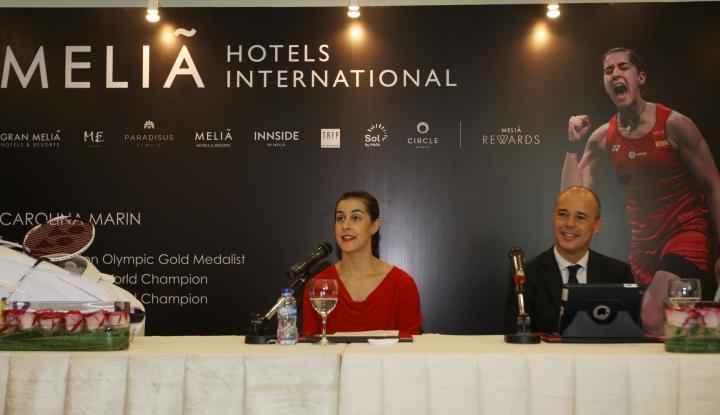 Meliá Hotels International Sambut Juara Badminton Dunia Carolina Marin, di Jakarta