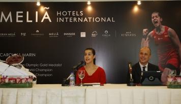 Foto Meliá Hotels International Sambut Juara Badminton Dunia Carolina Marin, di Jakarta