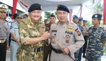 Foto Jelang Lebaran, Polda Sumsel Perketat Pengamanan Palembang