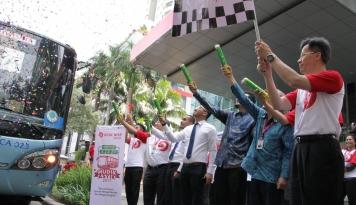 Foto Bank OCBC NISP Adakan Mudik Gratis 2017