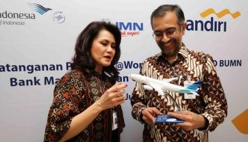 Foto Bank Mandiri Sediakan Layanan Perbankan Terintegrasi untuk Garuda Indonesia