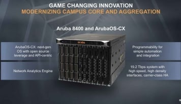 Foto Yang Baru Dari Aruba8400 Core Switch dan ArubaOS-CX