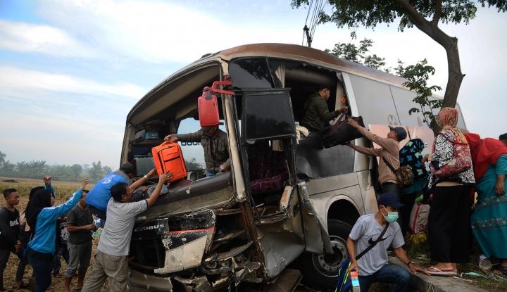 Foto Berita Polisi: 2018, Kecelakaan Kendaraan Meroket 4%