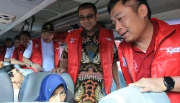 Foto 8.000 Orang Mudik Bareng Telkomsel, dari Sumatera Hingga Papua