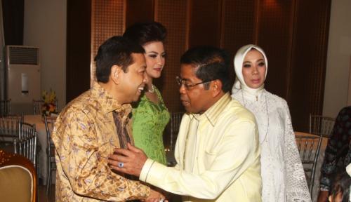Foto Open House, Setya Novanto Dibanjiri Pertanyaan RUU Pemilu