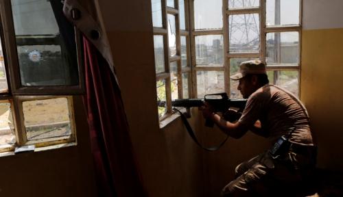 Foto Militer Suriah Kurung Militan ISIS di Deir Az-Zour