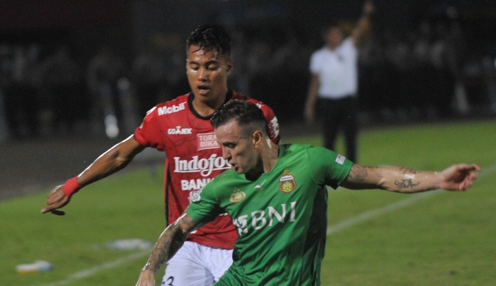 Foto Berita Gol Tunggal Hargianto ke Gawang Mitra Kukar Bawa Bhayangkara FC Raih 3 Poin