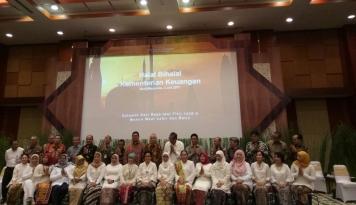 Foto Hari Pertama Kerja, Menkeu Gelar Halalbihalal