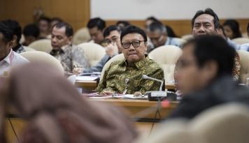Foto Mendagri: Ada Organisasi Bertentangan Pancasila, PNS Nggak Boleh Terlibat