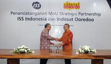 Foto ISS Indonesia Jalin Kerja Sama Strategis dengan Indosat Ooredoo
