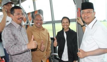 Foto Menteri Rini Minta Tol Medan-Binjai Rampung Akhir Tahun