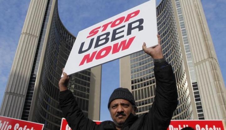 Foto Berita Aksi Protes Supir Taksi Spanyol Terhadap Uber Terus Berlanjut