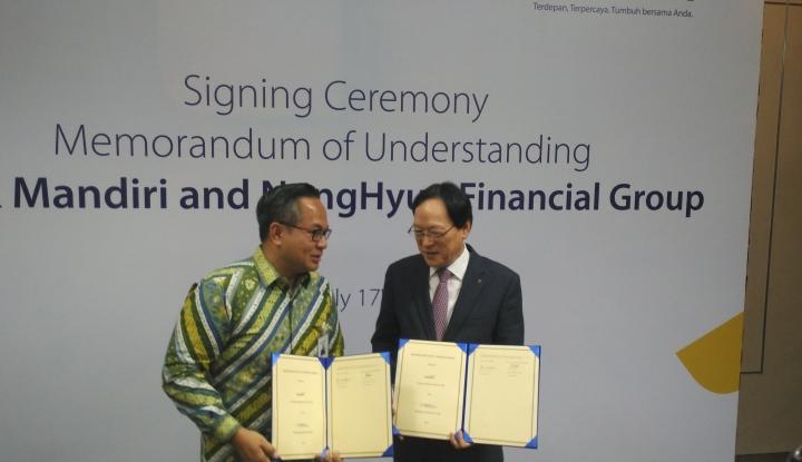 Foto Berita Mandiri Lakukan Kerja Sama dengan Institusi Keuangan asal Korsel, NingHyup Financial