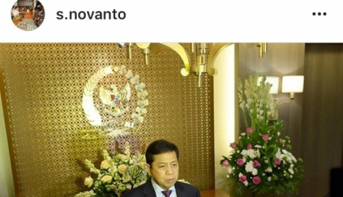 Foto Kurang Sehat, Papa Novanto Batal Pimpin Sidang DPR