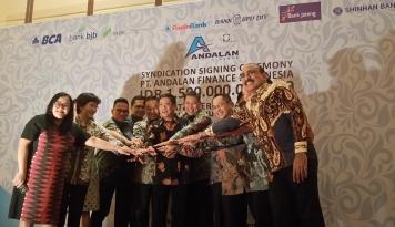 Foto Delapan Bank Guyur Kredit Sindikasi Rp1,5 Triliun buat Andalan Finance