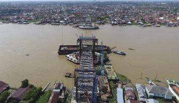 Foto Jembatan Musi VI Tahap I Rampung Desember2017