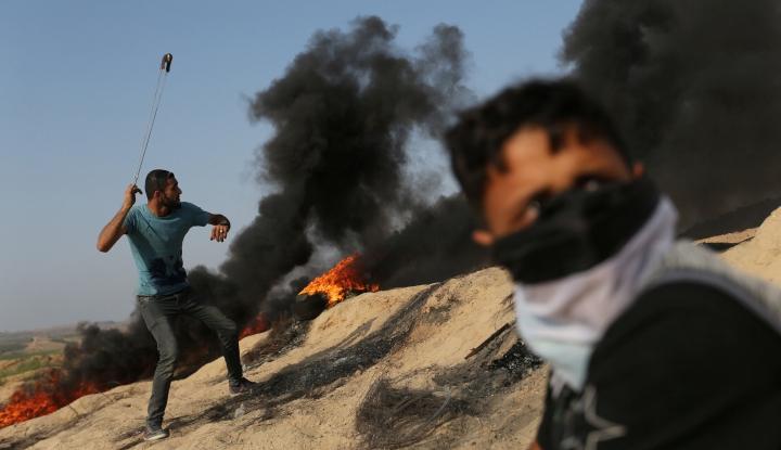 Foto Berita Bentrokan di Perbatasan Israel-Gaza Berlanjut, 35 Cidera
