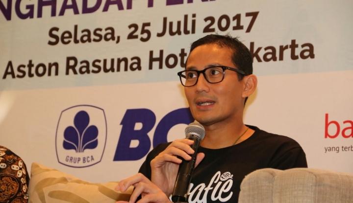 Foto Berita Ada Keluarga dalam OK OCE, Sandiaga Segera Depak Indra Uno