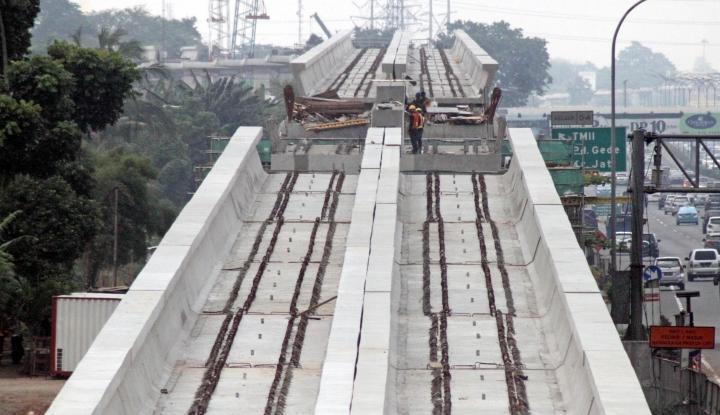 Foto Berita Pembebasan Lahan LRT Jabodebek Dipercepat