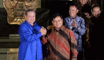 Foto Gerindra Percaya Diri SBY Beri Dukungan Prabowo 'Nyapres'