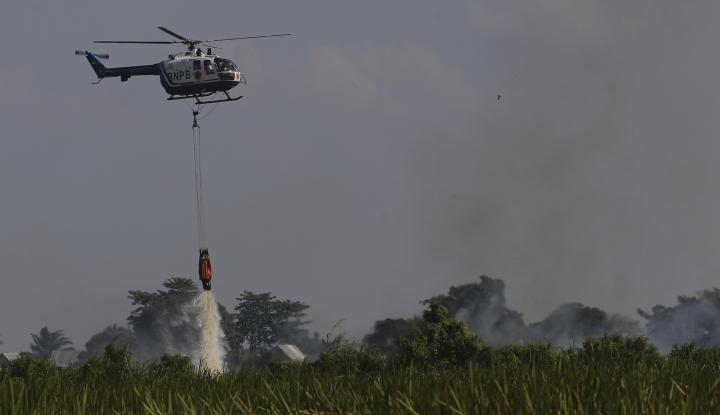 Foto Berita 8 Heli Padamkan Api di Hutan Kalbar
