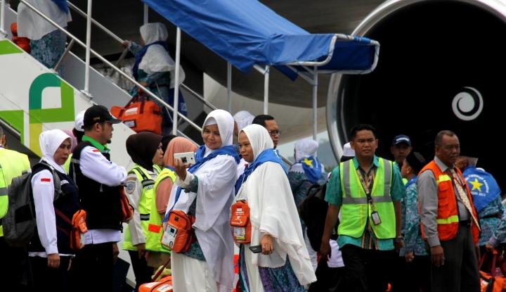 Foto Berita Jamaah Haji Meninggal di Pesawat, Dapat Asuransi Rp143 Juta