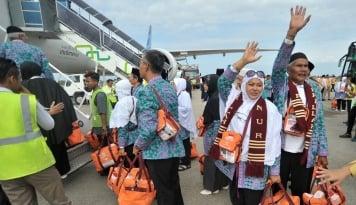 Foto Kloter Terakhir Medan Gabung dengan Kloter Aceh