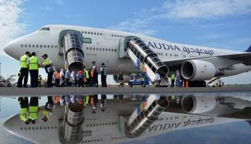 Foto Pertamina: Konsumsi Avtur Musim Haji 2018 Naik 51,79%