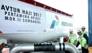 Foto Bulan Haji, Pertamina Tambah Suplai Avtur di Palembang