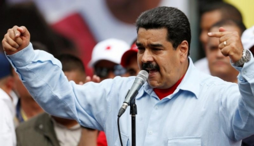 Foto Maduro Dikerjai Amerika, Palestina Dukung Venezuela