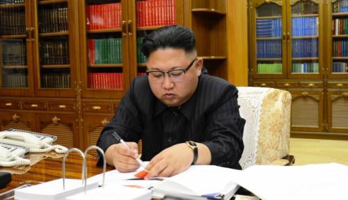 Foto Kim Jong Un: Militer Korea Utara Harus Selalu Siap Bertempur!