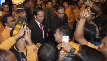 Foto Jokowi Dipastikan Akan Hadiri Acara Rakernas Hanura