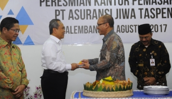 Foto Taspen Life Perlebar Sayap ke Palembang