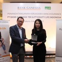 BGTG Bank Ganesha Gandeng Equity Life untuk Pasarkan Produk Bancassurance - Warta Ekonomi