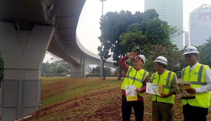 Foto Berita Flyover Bintaro Punya Area Khusus bagi Para Pejalan Kaki
