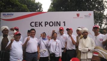 Foto Telkom Bersama Krakatau Steel Gelar Acara Jalan Sehat