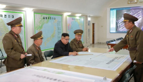 Foto Duh, Kim Jong Un Siap Serang Wilayah Guam