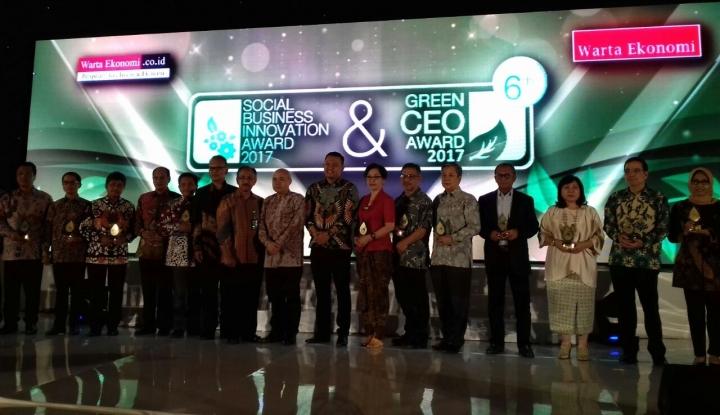 Foto Berita Inilah Pemenang Social Business Innovation Award & Green CEO Award 2017