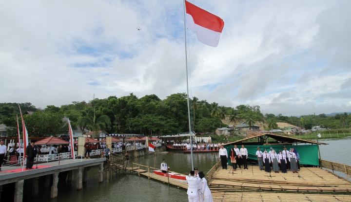 Foto BTN Gelar Upacara Bendera di Museum Pendaratan Soekarno