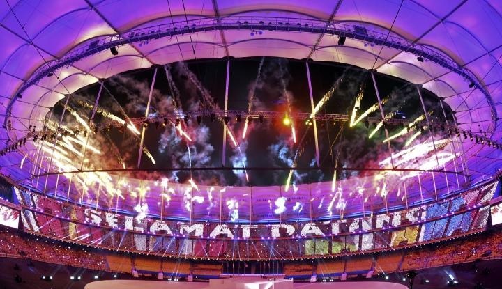 Foto Berita Pembukaan Sea Games ke-29 Dihadiri oleh Menko PMK