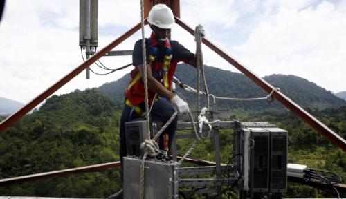 Foto 753 BTS Telkomsel Telah Beroperasi Layani Wilayah Perbatasan Indonesia